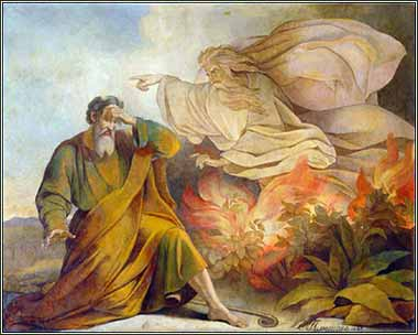 Moses Burning Bush, by Eugene Pluchart