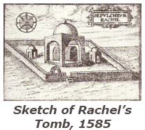 Sketch of Rachel's Tomb, 1585