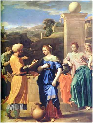 Eliezer and Rebecca at the Well by Nicolas Poussin 1648