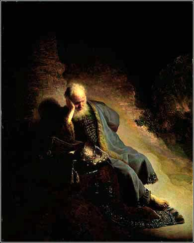 <i>Jeremiah Lamenting the Destruction of Jerusalem</i>, Rembrandt van Rijn ca. 1630