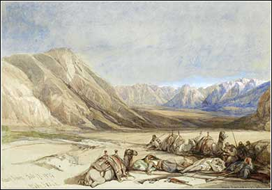 <i>The Approach to Mt. Sinai</i> by David Roberts ca. 1839