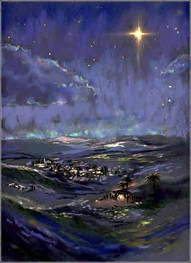 Star of Bethlehem painting