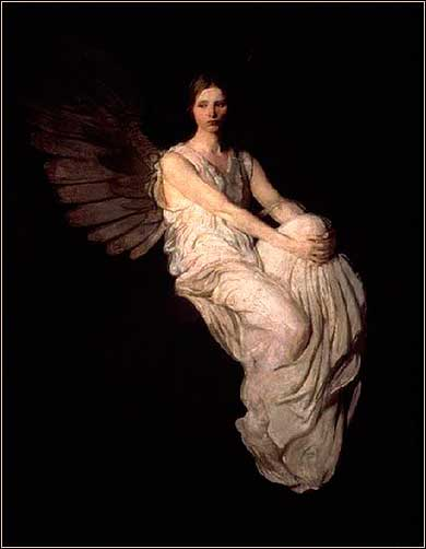 <i>Angel</i> by Abbot Thayer, ca. 1890.