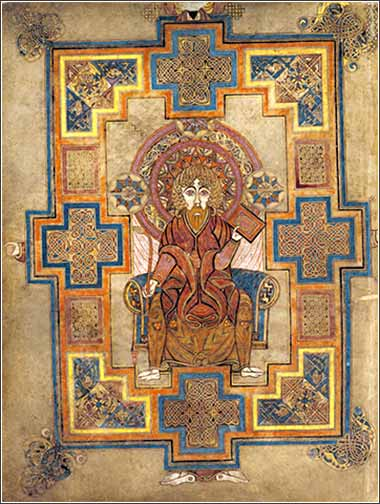 Depiction of St. John, cover page from the <i>Book of Kells</i>, ca. 800 A.D.