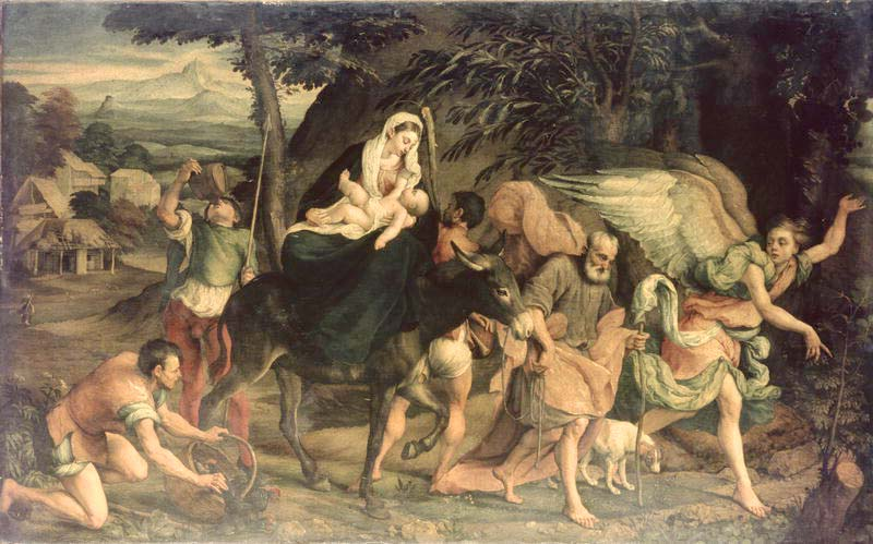 painting of flight into Egypt