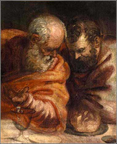 <i>Two Apostles</i> by Tintoretto (Jacopo Comin) ca. 1570.