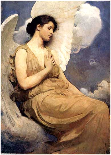 <i>Angel</i> by Abbott Handerson Thayer, ca. 1895