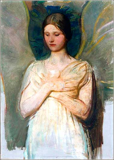 <i>Angel</i>, by Abbot Handerson Thayer, ca. 1889.
