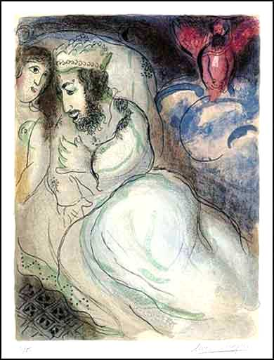 Abimelech and Sara by Marc Chagall