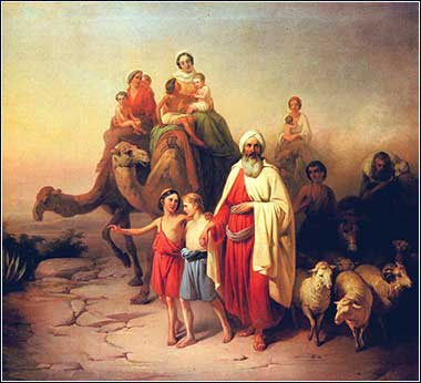 Abraham and his family by Jozsef Molnar