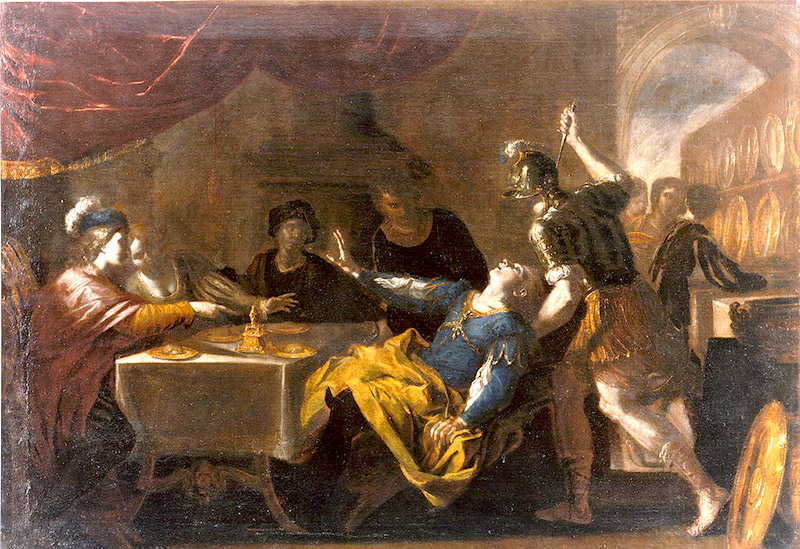 painting of Absalom slaying Amnon