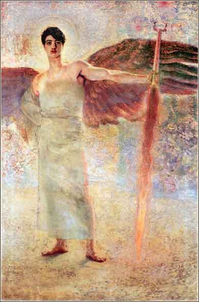 <i>Angel with Flaming Sword</i>, ca. 1889|Franz von Stuck,