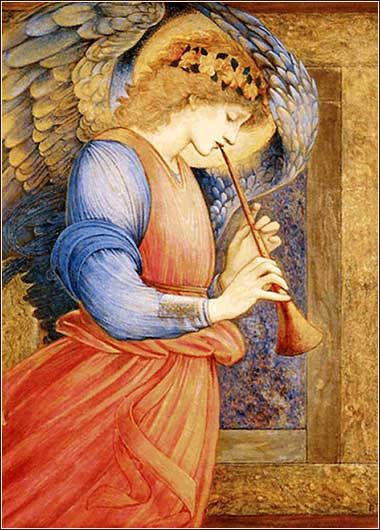 Angel, by Edward Burne-Jones ca. 1850.