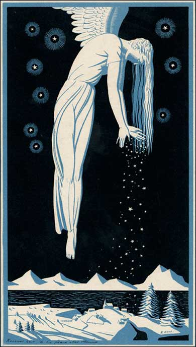 Art Deco Christmas Angel by Rockwell Kent, ca. 1928