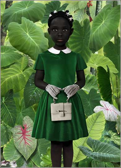 Little Girl dressed for church by Ruud van Empel