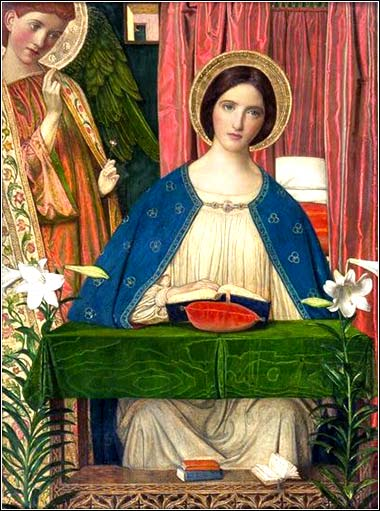 <i>The Annunciation</i> by Arthur Joseph Gaskin, ca. 1898.