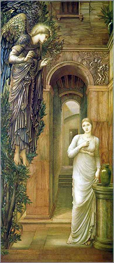 <i>The Annunciation</i> by Edward Burne-Jones, ca. 1879.