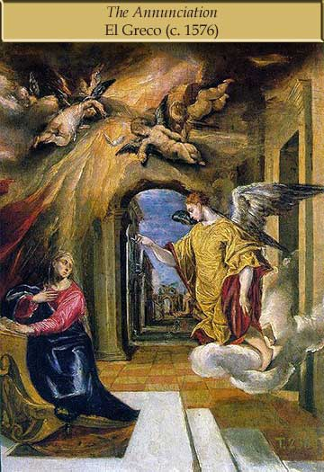 El Greco painting of the Annunciation