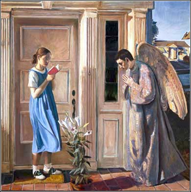 <i>The Annunciation</i> by John Collier, ca. 2012.