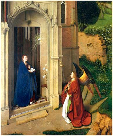 <i>The Annunciation</i> by Petrus Christus, ca. 1452
