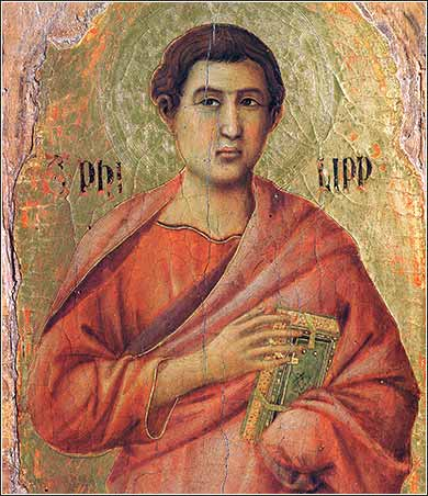 <i>Apostle Philip</i> by Duccio, ca. 1308.