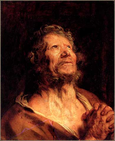 <i>Apostle with Folded Hands</i> by Anthony van Dyke, ca. 1620.