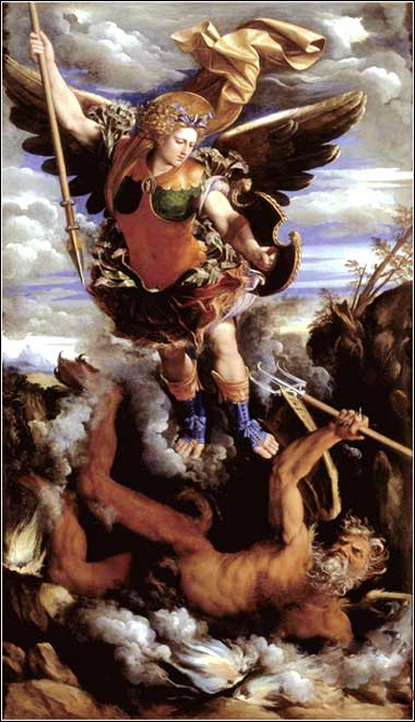 <i>The Triumphant St. Michael,</i> by Dosso Dossi, ca. 1562.