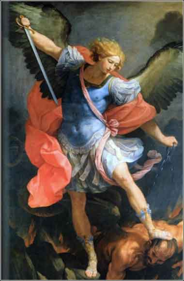 Archangel Michael defeats Satan, Guido Reni ca. 1635