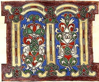 Decoration from 12th cen. French Bible.