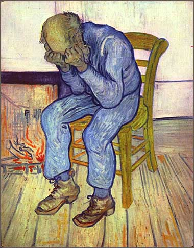 <i>At Eternity's Gate</i>, Vincent van Gogh, ca. 1890.