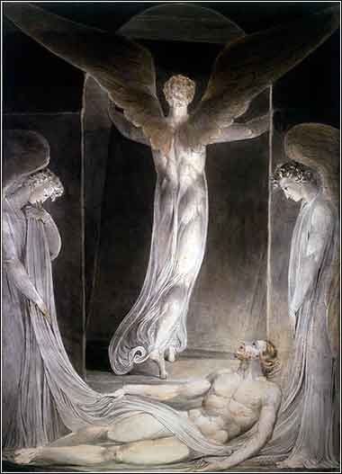 William Blake, devotional Christian painting of angels