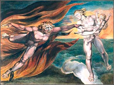 Good versus evil, William Blake ca. 1795