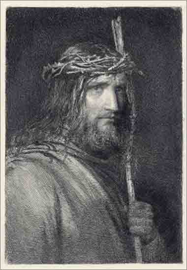 <i>Christ with Staff</i>  by Carl Heinrich Bloch, ca. 1864.
