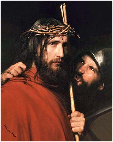 <i>Christ Mocked by a Soldier</i> by Carl Bloch, ca. 1872.