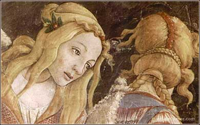 Zipporah by Sandro Botticelli, from <i>The Trials of Moses</i> (detail)