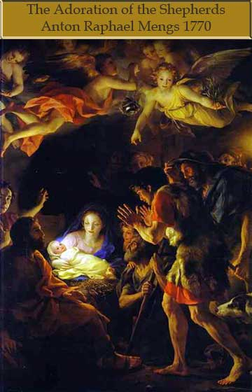 Christmas Adoration of the Shephers by Anton Mengs
