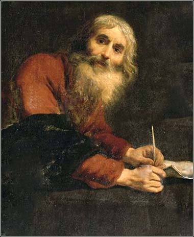 <i>Luke the Evangelist</i> by Claude Vignon, ca. 1647.