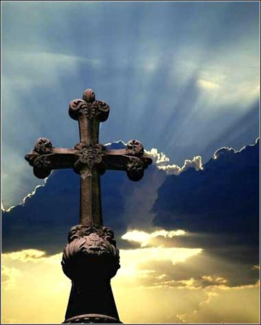 Cross of glory in sunlight