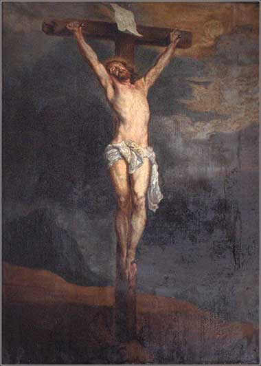 <i>Crucifixion</i> by  Anthony van Dyck, ca. 1620.