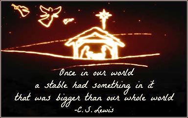 C. S. Lewis Christmas quote