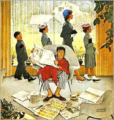 <i>Easter Morning</i> by Norman Rockwell, ca. 1959