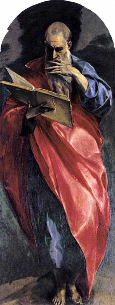 El Greco devotional painting of Stain John the Evangelist