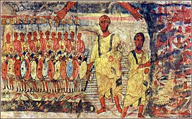 Moses and Aaron, Red Sea, Dura Europos Synagogue