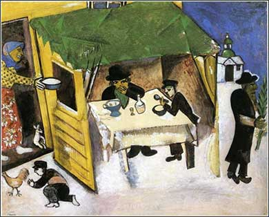 <i>The Feast of Tabernacles</i> by Marc Chagall, ca. 1916