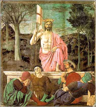 <em>Resurrection of Christ</em>, Piero della Francesca, Devotional painting c. 1463
