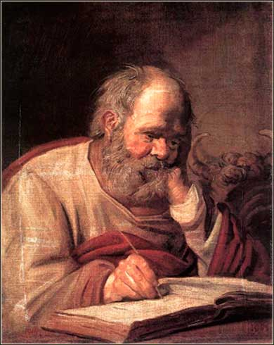 <i>Luke the Evangelist</i> by Frans Hals, ca. 1660