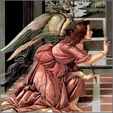 <i>The Archangel Gabriel</i> by Sandro Botticelli ca. 1490.