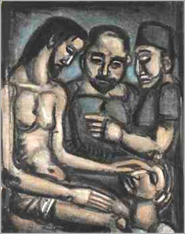 <i>Jesus Heals the Blind Man</i> by Georges Rouault, ca. 1897