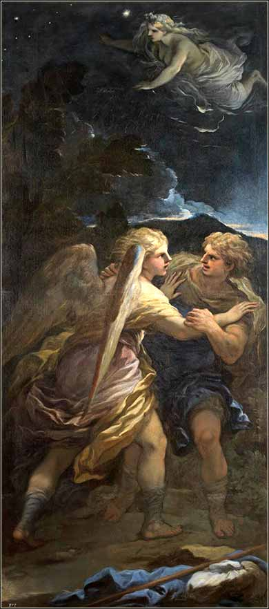i>Jacob and the Angel</i> by Giordano Luca, ca. 1694.