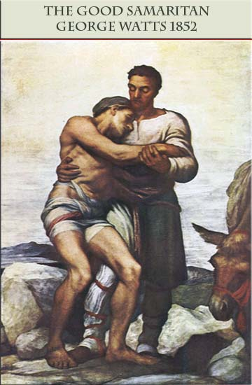 The Good Samaritan, painting by George Frederick Watts, 1856